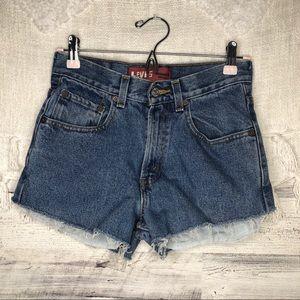 Levi's 550 cutoff jean denim shorts